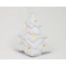 Albero di Natale a LED 11x11x7cm, realizzato in po