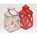 Lantern XXL 20x10x10cm with metal handle 24cm