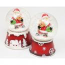 Großhandel Geschenkartikel & Papeterie: Echtglas Schneekugel 7,5x5,5cm 2-fach ...