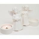 Fehér angyal, 11x10cm tealight tartóval
