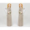 Großhandel Kleider: Keramik Engel 18,5x5,5cm mit Glitzerkleid