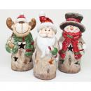 LED élan, Père Noël ou bonhomme de neige XL 13,5x6