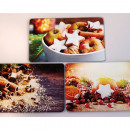 wholesale Kitchen Gadgets: Glass cutting board 25x15cm 3 license motifs assor