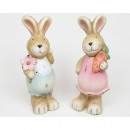 Bunny XL with flower or carrot 14x7cm & 14x5cm