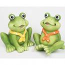 Großhandel Figuren & Skulpturen: Frosch XL mit Halstuch 11x9x7cm 2-fach sortiert