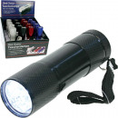 Flashlight 9-LED spotlight 9cm without battery in