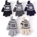 Großhandel Fashion & Accessoires: Winter Herren Strickhandschuh Norwegerdesign