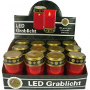 Grablicht electric 12cm red in Display without bat