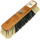Broom inside 27x8cm brown with metal thread