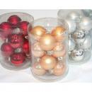 ingrosso Casalinghi & Cucina: sfere di vetro reale set di 12 4cm, metallico e lu