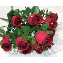 Bunch of roses LUXURY with 12 heads 50x25cm
