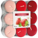 wholesale Candles & Candleholder: Tealight scent 18 strawberry in block pack