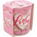 grossiste Maison et habitat: Parfumée lettre d'amour en verre motif bougie