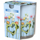 Scented candle motif glass Blue Garden 120g wax