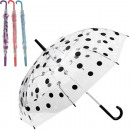 wholesale Umbrellas: Umbrella 74cm stick transparent with color punk