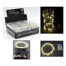 LED Wire Light Chain, 40 LED Warm White,