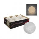 LED labda 8cm XL vinyl, meleg fehér fény,