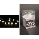 Lichterkette LED Ball, 10 LED, Vinyl warm-weiß,