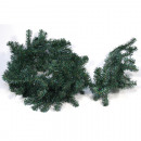 Grön granblomma för julgirland, klassisk