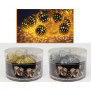 wholesale Light Garlands: Light chain metal balls Ø2,5cm 8LED warm white