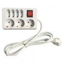 mayorista Instalacion electrica: Socket 7 veces, longitud: 1,4 m, blanco, con el
