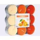 Tealight Orange 18-pack, 3 colors assorted , al