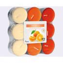Teáskanál narancs 18er Pack 3 színben szortírozott