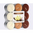 Tealights Vanilla 18-Pack, 3 assorted ,