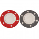 wholesale Crockery: Stardesign plate 20cm made of finest ceramics, red