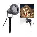 Gwiazdki projektora LED, plastik / metal, czarny,
