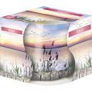 Großhandel Home & Living: Duftkerze Motivglas Relax 100gr weisses Wachs