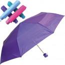 Großhandel Taschen & Reiseartikel: Regenschirm 100cm Taschenschirm Trendfarben