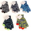 grossiste Vetement et accessoires: Hiver Handschuh avec fonction Damen tactile 5 coul