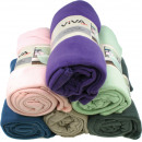 wholesale Cushions & Blankets: Fleecedecke uni 130 x 170 cm 6 colors assorted