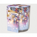 Scented candle motif glass Xmas Time 120gr wax,