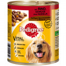 Pedigree 800g tin with beef, vegetables & nood