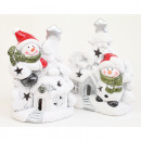wholesale Home & Living: LED wind light XL 12x11x6cm with snowman,