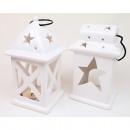 Lantern XL 17x9x8cm white two shapes assorted ,