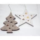 mayorista Casa y decoración: LED estrella de madera 16,5x16,5x13cm o ...