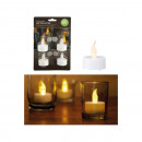LED tealights set of 4 on card,