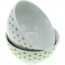 Porcelain cereal bowls dots 14x8cm, 600 ml