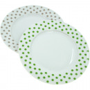 Porcelain Dinner Plate Dots approx. 27cm