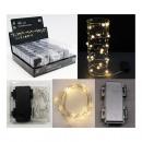 Huzal sztring MICRO-LED csillag lánc