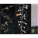 Tündér fények LED gyöngyökkel és csillagokkal