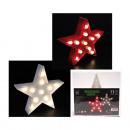 LED XL Stern,11 LED 24cm,2 Farben sortiert ,25x24x