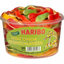 Food Haribo round tin giant snake 1.2 kg