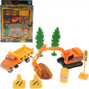 Play set construction vehicles II 4-fold sort Scal