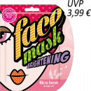 wholesale Facial Care: BLING POP Moisturizing mask with rice bran