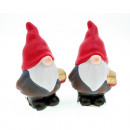 Santa with white beard 12x8cm, 2 times assorted