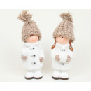 wholesale Fashion & Apparel: Child XL with knit cap 14x5x5cm ceramic